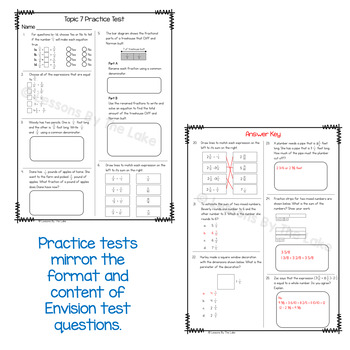 Envision Math 2.0 5th Grade Topic 7 Review Practice Test