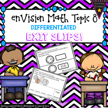 Envision Math 2.0 Exit Slip Ticket Topic 8 ~ 2nd Grade