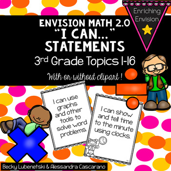Envision Math 2.0 I Can Objectives 3rd Grade