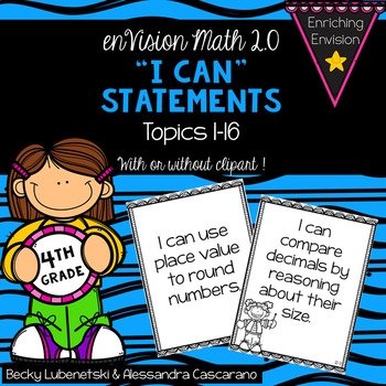 Envision Math 2.0 I Can Objectives 4th Grade