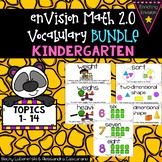 Envision Math 2.0 Kindergarten Vocabulary BUNDLE