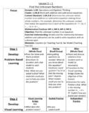 Envision Math 2.0 Lesson Plans Grade 1 - Topic 5