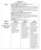 Envision Math 2.0 Lesson Plans Grade 1 - Topic 8