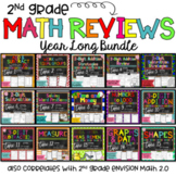 Envision Math 2.0 Math Review Year Long Bundle