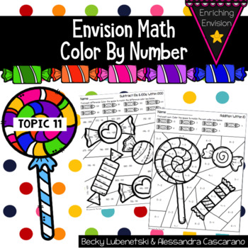 Envision Math 2.0 Topic 11 Color By Number 2nd Grade