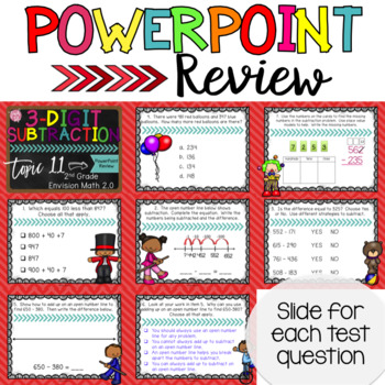 Envision Math 2.0 Topic 11 Review 3-Digit Subtraction