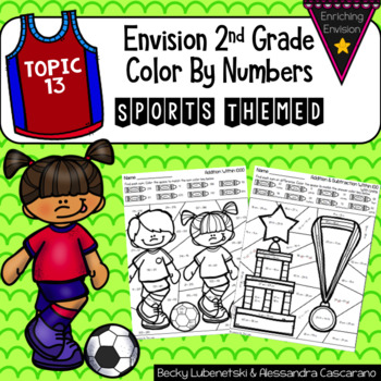 Envision Math 2.0 Topic 13 Color By Numbers 2nd Grade