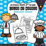Envision Math 2.0 Topic 8 Color By Number Activities 2nd Grade