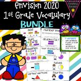 Envision Math 2020 1st Grade Vocabulary BUNDLE