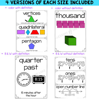 Envision Math 2020 2nd Grade Vocabulary Cards *BUNDLE* Topics 1- 15