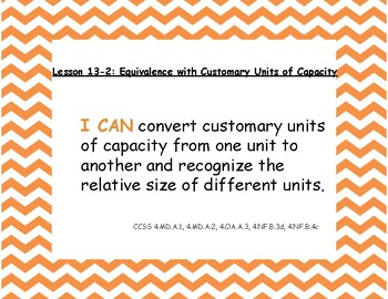 """Envision Math 2020 Grade 4 Topic 13 lesson titles, """"I Can"""" statements, and CCSS"""