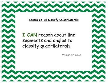 """Envision Math 2020 Grade 4 Topic 16 lesson titles, """"I Can"""" statements, and CCSS"""