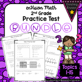 Envision Math 2.0 2nd Grade Practice Review Tests BUNDLE