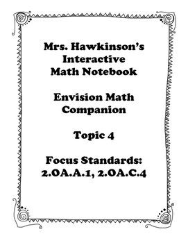 Envision Math 2nd Grade Topic 4 Interactive Notebook