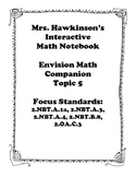 Envision Math 2nd Grade Topic 5 Interactive Notebook