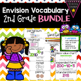 Envision Math 2.0 2nd Grade Vocabulary Cards *BUNDLE* Topi
