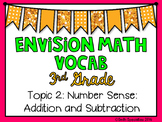 (3rd Grade) Envision Math Vocabulary Posters: Topic 2
