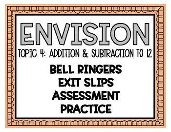 Envision Math Bell Ringers Topic 4