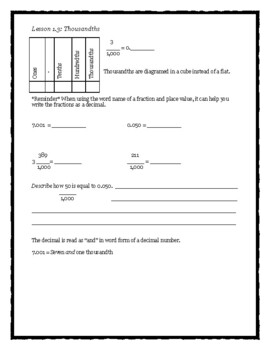 Envision Math Chapter 1