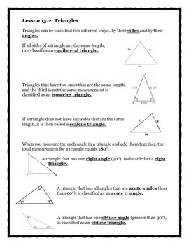 Envision Math Chapter 15