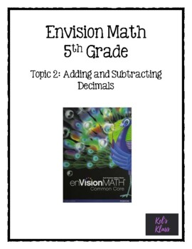 Envision Math Chapter 2