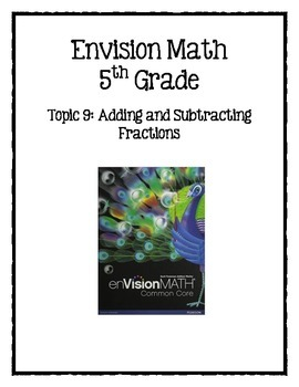 Envision Math Chapter 9