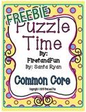 Envision Math Common Core Puzzle Telling Time Freebie