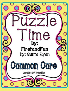 Envision Math Common Core Puzzle Telling Time Fun Pack MAFS