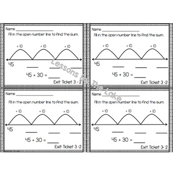 Envision Math 2.0 Exit Slip Ticket Topic 3 ~ 2nd Grade