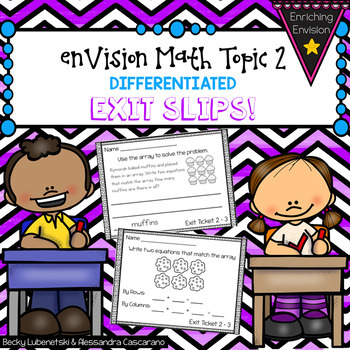 Envision Math Exit Slip Ticket Topic 2 ~ 2nd Grade