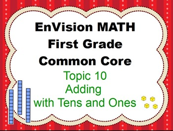 Envision Math First Grade Topic 10 for Activboard