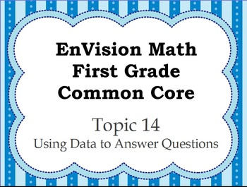 Envision 1st Grade Topic 14 Worksheets & Teaching Resources