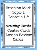 Envision Math Grade 5 Topic 1 Lesson Review, Center Activities, Activity Cards