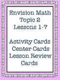 Envision Math Grade 5 Topic 2 Lesson Review, Center Activities, Activity Cards