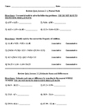 Envision Math Grade 5 Topic 2 Quiz Lessons 1-3