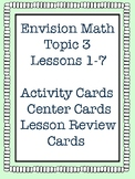 Envision Math Grade 5 Topic 3 Lesson Review, Center Activities, Activity Cards