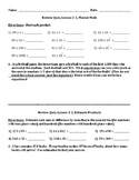 Envision Math Grade 5 Topic 3 Quiz Lessons 1-3