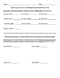 Envision Math Grade 5 Topic 4 Quiz Lessons 1-3