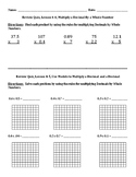 Envision Math Grade 5 Topic 4 Quiz Lessons 4-7