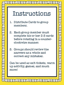 Envision Math Grade 5 Topic 5 Lesson Review, Center Activities, Activity Cards