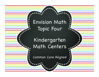 Envision Math Topic Four Kindergarten Math Center