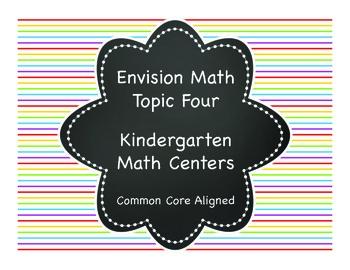 Envision Math Topic Four Kindergarten Math Center