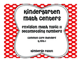 Envision Math Kindergarten Math Centers Topic 11