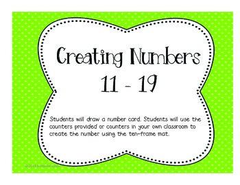 Envision Math Kindergarten Math Centers Topic 11