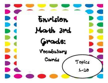 Envision Math! Over 150 Vocabulary Words! Polka Dot!