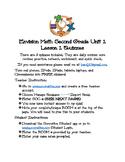 Envision Math Second Grade Unit 1 Socrative Quizzes
