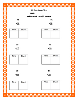 Envision Math Second Grade Unit Four Extra Practice Sheets