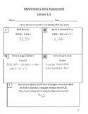Envision Math Skills Assessments Grade 5 Answer Key
