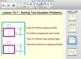 Envision Math Solving Two Question Word Problems - Smartbo