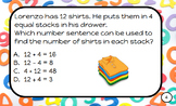 Envision Math Task Cards for Plickers Grade 3-Topic 8